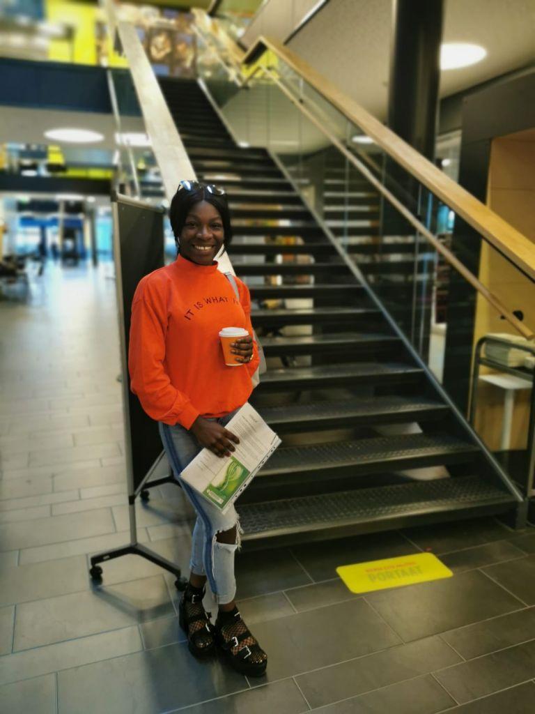 Myra at Frami F lobby