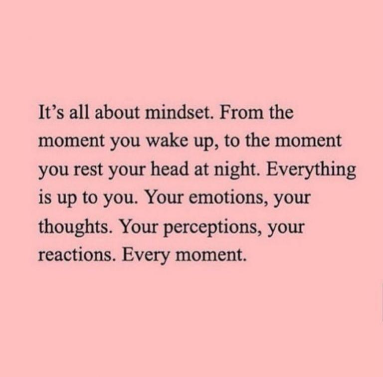 Phrase on mindset