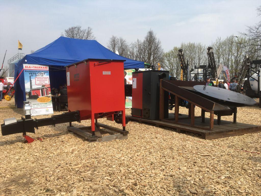 Biomass heating systems by Veljekset Ala-Talkkari Oy at Tartu Maamess 2019 exhibition.