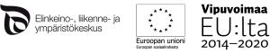 Elinkeino- liikenne- ja ympäristökeskuksen, Euroopan unionin sosiaalirahaston ja Vipuvoimaa EU:lta 2014-2020 -logot