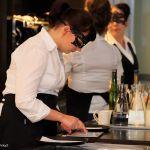 Tarjoilija./A waitress.