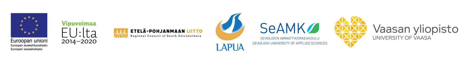 Wasteless-hankkeen rahoittajien ja yhteistyökumppanien logot.