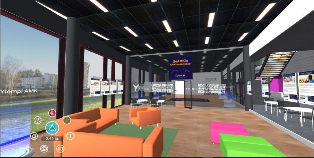 Kuva Altspace-VR-tilasta