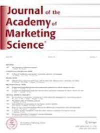 Lehden Journal of the Academy of Marketing Science kansi.