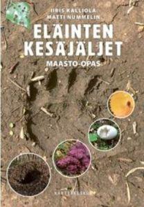 Kirjan Eläinten kesäjäljet kansi.