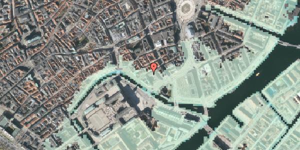 Stomflod og havvand på Admiralgade 27, 3. , 1066 København K