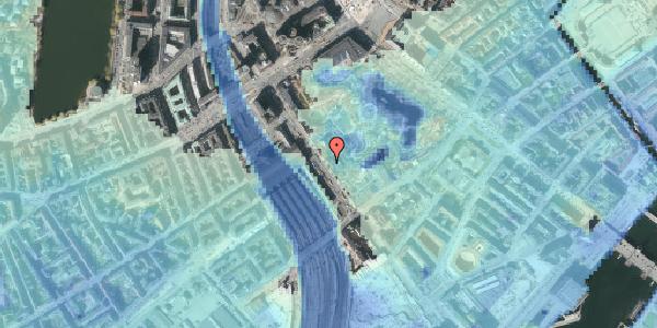 Stomflod og havvand på Bernstorffsgade 7, 1577 København V