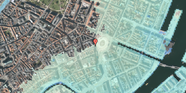 Stomflod og havvand på Østergade 2A, 1. , 1100 København K