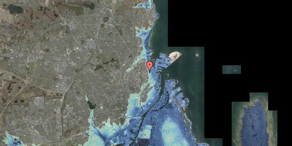 Stomflod og havvand på Østerfælled Torv 31, 2100 København Ø
