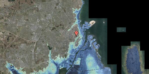 Stomflod og havvand på Juliane Maries Vej 13, 2100 København Ø