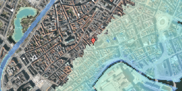 Stomflod og havvand på Klosterstræde 8, 1. , 1157 København K