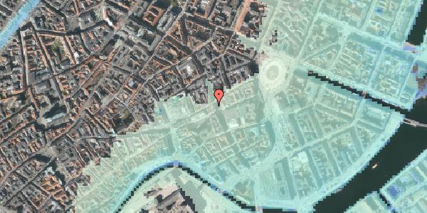 Stomflod og havvand på Østergade 27, 1100 København K