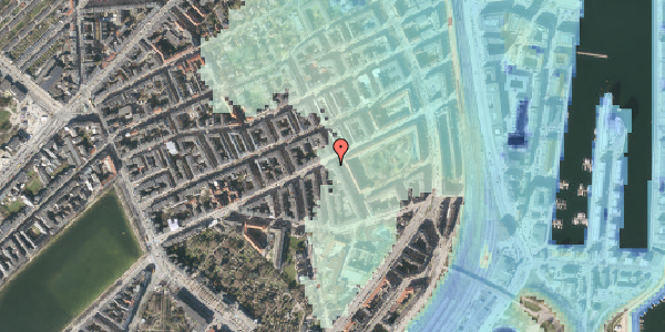 Stomflod og havvand på Classensgade 50B, 2100 København Ø