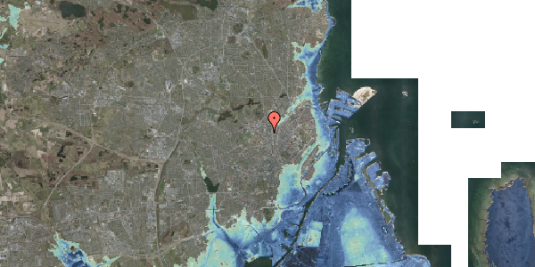 Stomflod og havvand på Frederiksborgvej 25, 2400 København NV