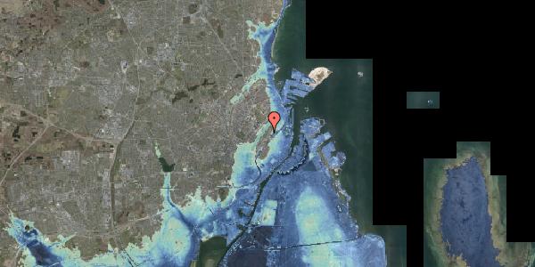 Stomflod og havvand på Abildgaardsgade 3, 2100 København Ø