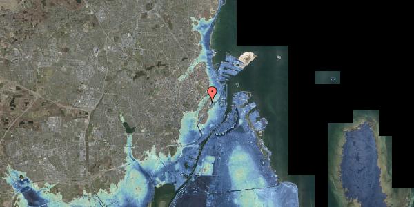 Stomflod og havvand på Abildgaardsgade 9, 2100 København Ø