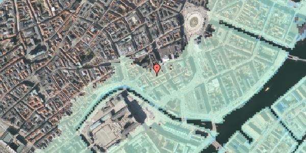 Stomflod og havvand på Admiralgade 19A, 2. , 1066 København K