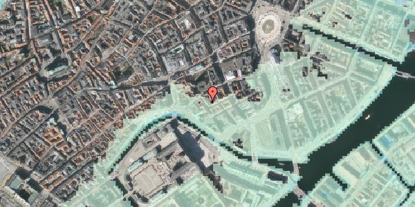 Stomflod og havvand på Admiralgade 19, kl. , 1066 København K