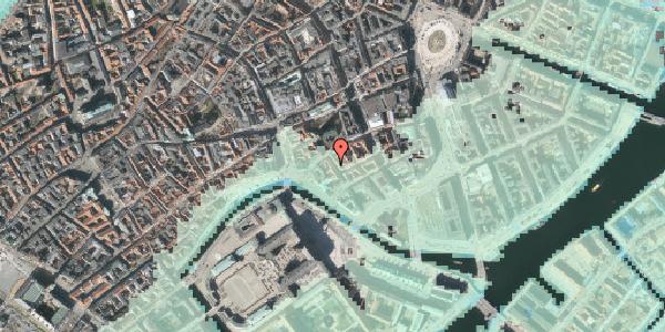 Stomflod og havvand på Admiralgade 20, 3. , 1066 København K