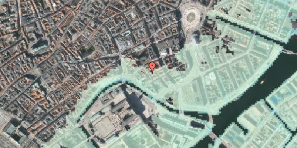 Stomflod og havvand på Admiralgade 21, kl. , 1066 København K