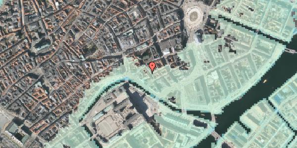 Stomflod og havvand på Admiralgade 22, kl. th, 1066 København K