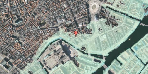 Stomflod og havvand på Admiralgade 23, kl. th, 1066 København K