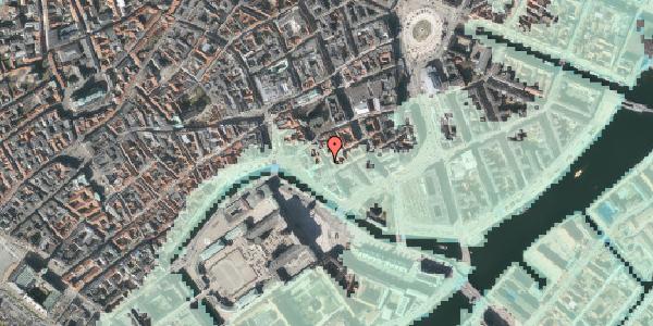Stomflod og havvand på Admiralgade 24, 4. , 1066 København K