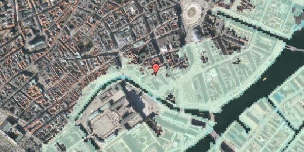 Stomflod og havvand på Admiralgade 25, kl. , 1066 København K