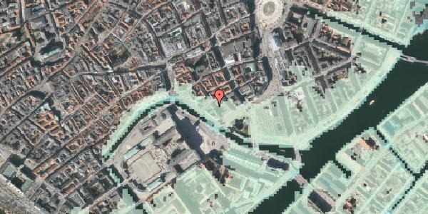Stomflod og havvand på Admiralgade 28, kl. , 1066 København K