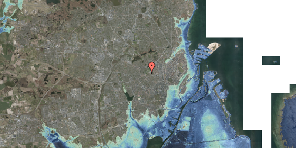 Stomflod og havvand på Bakkevej 10, 2400 København NV