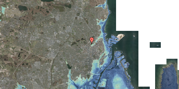 Stomflod og havvand på Bispebjerg Bakke 3, 6. 609, 2400 København NV