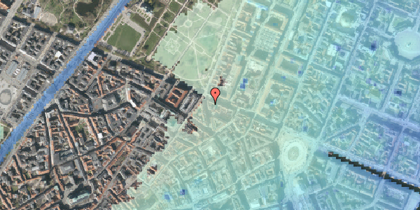 Stomflod og havvand på Christian IX's Gade 10, 3. , 1111 København K