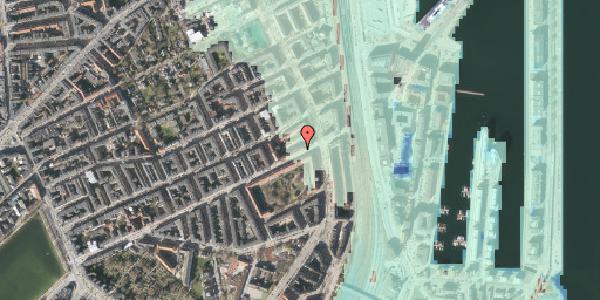 Stomflod og havvand på Classensgade 65, kl. , 2100 København Ø