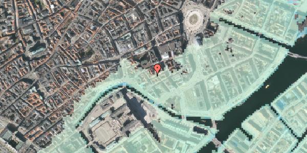 Stomflod og havvand på Dybensgade 22, kl. , 1071 København K