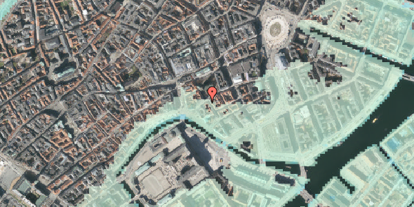 Stomflod og havvand på Fortunstræde 1, st. th, 1065 København K