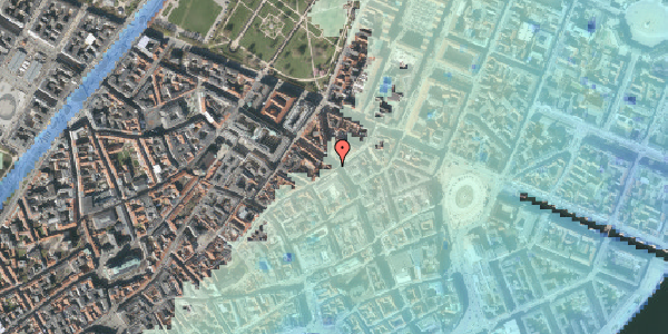 Stomflod og havvand på Gammel Mønt 17, kl. th, 1117 København K