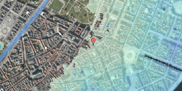 Stomflod og havvand på Gammel Mønt 25, kl. , 1117 København K