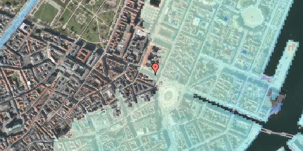 Stomflod og havvand på Gothersgade 7, kl. , 1123 København K