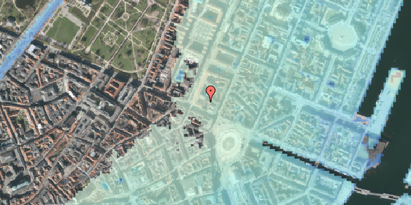 Stomflod og havvand på Gothersgade 10C, 3. th, 1123 København K