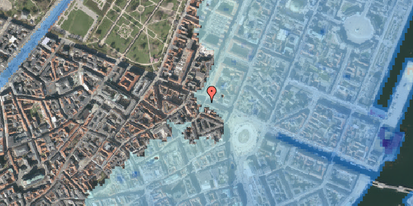Stomflod og havvand på Gothersgade 19, 2. , 1123 København K