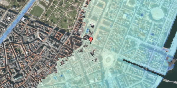 Stomflod og havvand på Gothersgade 23, kl. , 1123 København K