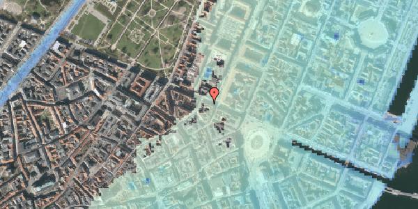 Stomflod og havvand på Gothersgade 25, kl. , 1123 København K
