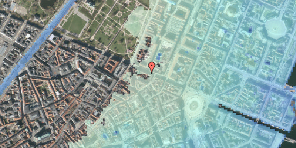 Stomflod og havvand på Gothersgade 35, 1. , 1123 København K