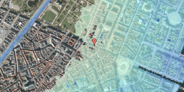 Stomflod og havvand på Gothersgade 39, kl. tv, 1123 København K