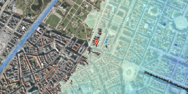 Stomflod og havvand på Gothersgade 54, st. tv, 1123 København K