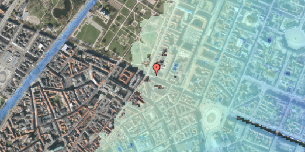 Stomflod og havvand på Gothersgade 56, 3. , 1123 København K