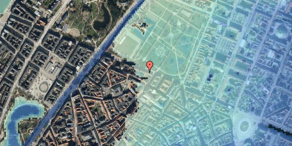 Stomflod og havvand på Gothersgade 91, kl. 1, 1123 København K