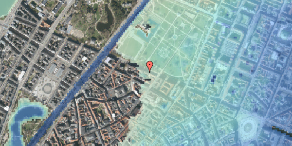 Stomflod og havvand på Gothersgade 93, 2. tv, 1123 København K