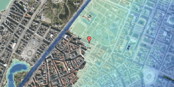 Stomflod og havvand på Gothersgade 95, 3. tv, 1123 København K