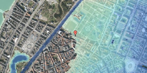 Stomflod og havvand på Gothersgade 105, 4. tv, 1123 København K